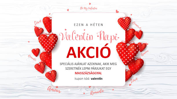 AMASAR - Valentin napi kedvezmény - kuponkód: valentin